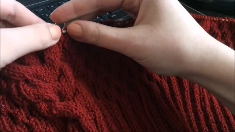 Проект онлайн по вязаному платью спицами Ч 2