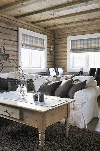 Уютный интерьер загородного дома