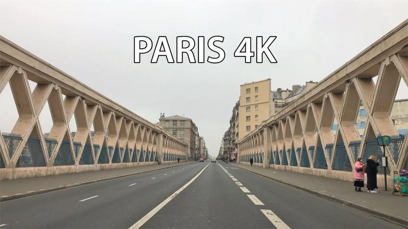 Paris 4K Nightlife Strip Day Drive