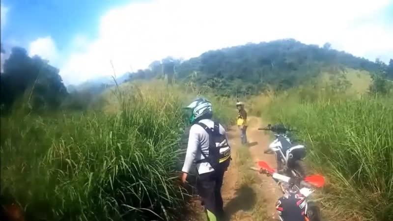 Странное существо попало в кадр во время мотогонок в Малайзии