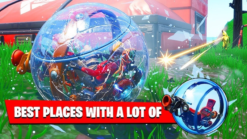 Best Places to USE THE BALLER IN DIFFERENT MATCHES - Fortnite WEEK 4 Challenges