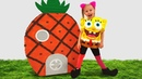 Alisa plays with Surprise Egg Toys SpongeBob