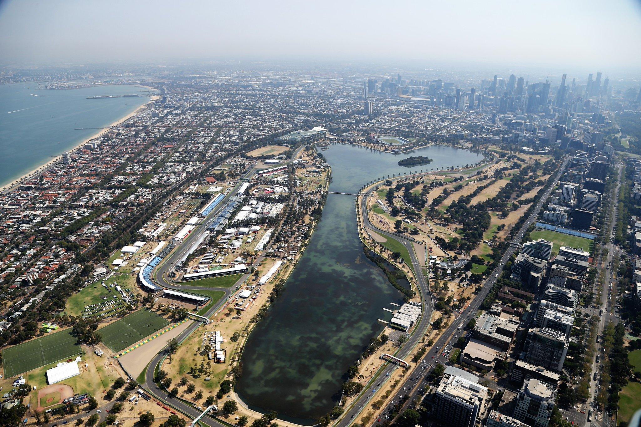Вид трассы Альберт-Парк в Мельбурне