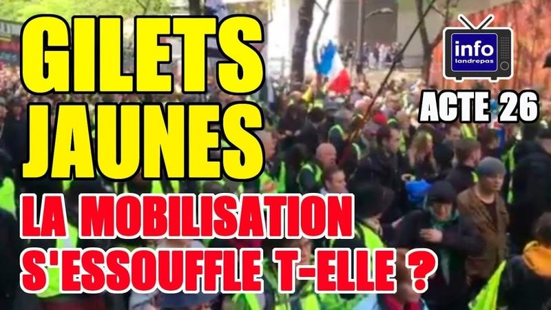 Les gilets jaunes acte 26 Jérôme Rodrigues La mobilisation ne sessouffle pas