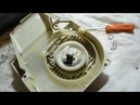 Как подтянуть шнур стартера бензопилы Ремонт стартера
