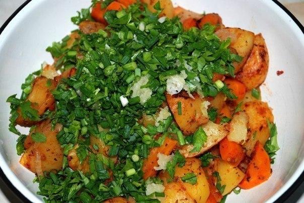 Готовим картошку в рукаве!