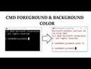 How to change foreground background color in command prompt cmd