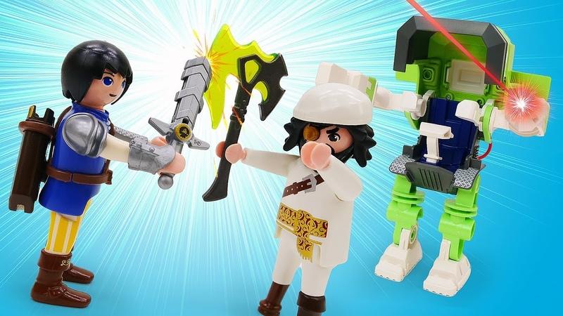 Детское видео про игрушки Супер четверка Новый робот помогает поймать Акулью Бороду