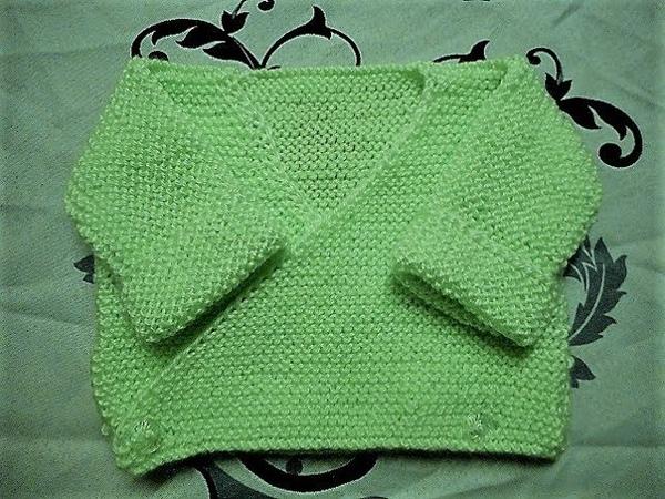 Tuto tricot brassière bébé parti 2