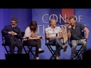 Nikolaj Coster Waldau Jaime Lannister and Jerome Flynn Ser Bronn talk Game of Thrones