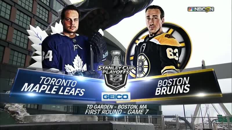 Бостон - Торонто. Toronto Maple Leafs vs Boston Bruins - Apr 23, 2019 - Game 7 - Stanley Cup 2019 - Кубок Стэнли
