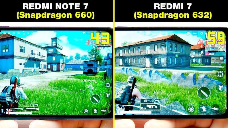 REDMI NOTE 7 (Snapdragon 660) vs REDMI 7 (Snapdragon 632) БОЛЬШОЕ СРАВНЕНИЕ В ИГРАХ! FPS НАГРЕВ