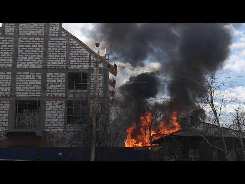 Как горит деревянный Иркутск за 20 минут Пожар апрель 2019