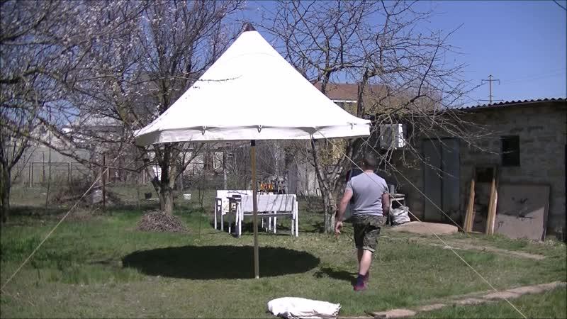 Установка шатра