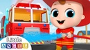 Firefighter and Fire Truck to the Rescue! | Firetruck Song | Nursery Rhymes by Little Angel