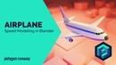 Low Poly Airplane - Blender 2.8 Modeling and Rendering Tutorial
