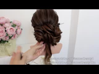 New bridal hairstyle. wedding prom updo for long hair
