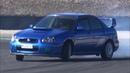AWD Drift on Track! - Subaru Impreza WRX STI vs Lancer EVO X!