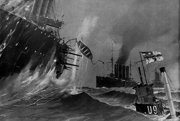 ЧЕРНАЯ ТЕНЬ ВОЙНЫ. Часть 1 22 сентября 1914 года в Северном море в 18 милях от побережья Голландии произошло сражение, навсегда изменившее расстановку сил в войне на море. Германская подводная