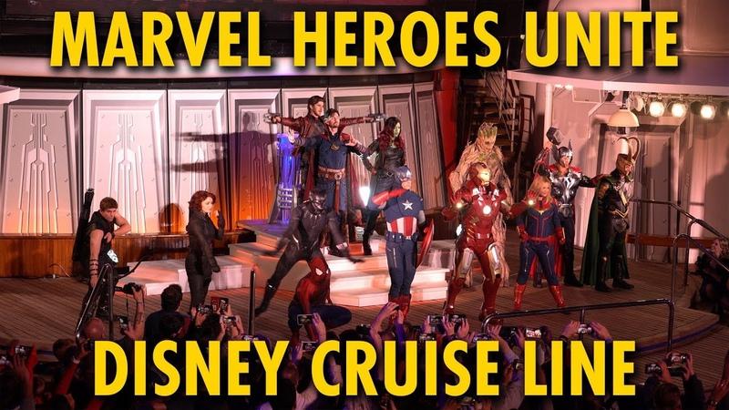 Marvel Heroes Unite Marvel Day at Sea Disney Cruise Line