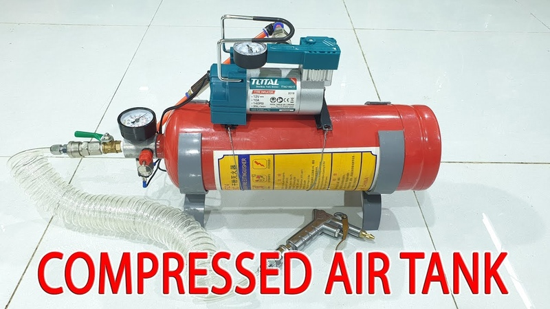Build 12Volt Compressed Air Tank using Old Fire Extinguisher