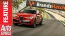 Alfa Romeo Stelvio Quadrifoglio in Brands Hatch SUV lap record attempt