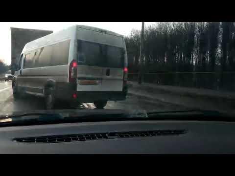 На путепроводе в Черноречье столкнулись сразу пять машин