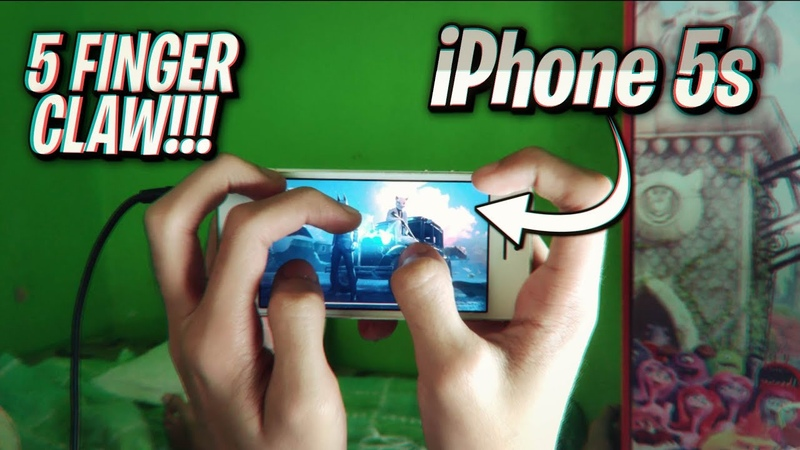 PUBG Mobile 5 Finger Claw On A Small Laggy 4 inches phone! (iPhone 5s)