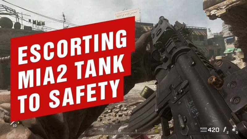 Escorting MIA2 Tank to Safety (सुरक्षा के लिए MIA2 टैंक अनुरक्षण) | COD - Modern Warfare - War Pig