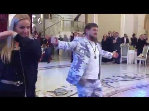 Кадыров и Навка танцуют лезгинку