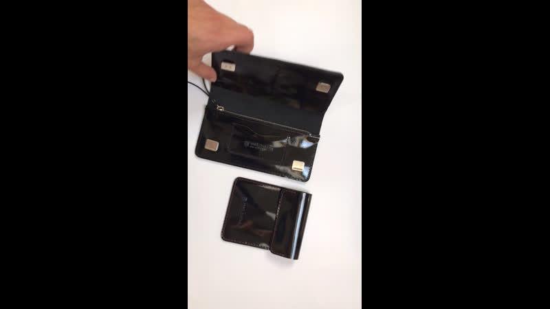 Лонгер GEM in black patent leather