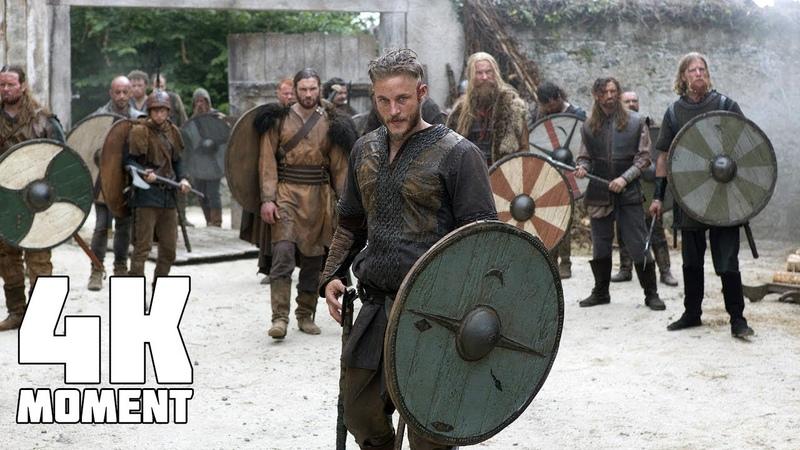 Викинги Рагнар и его друзья грабят монастырь Момент из сериала