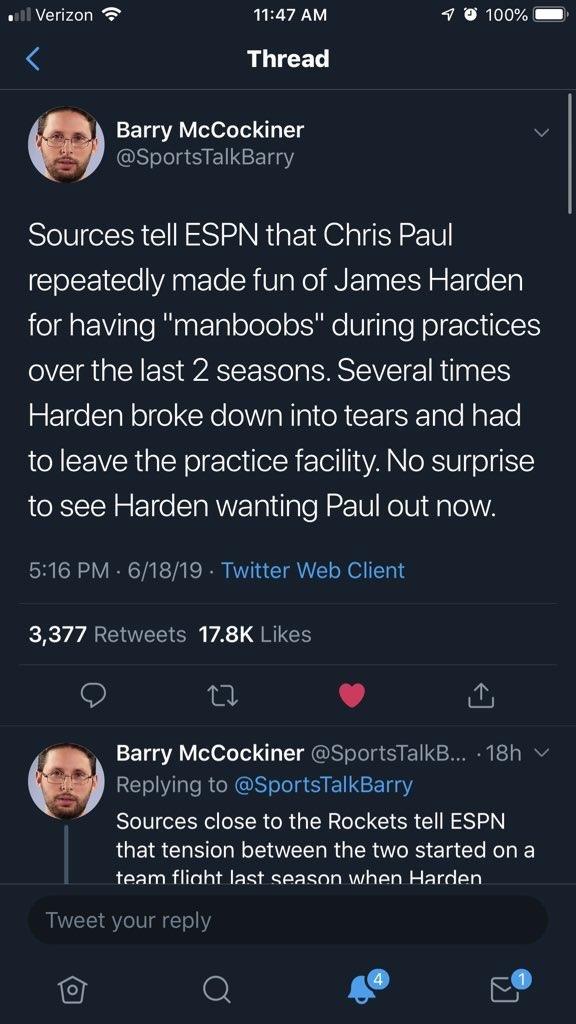 Скип Бэйлесс поверил в фейковую новость о насмешках Пола над Харденом