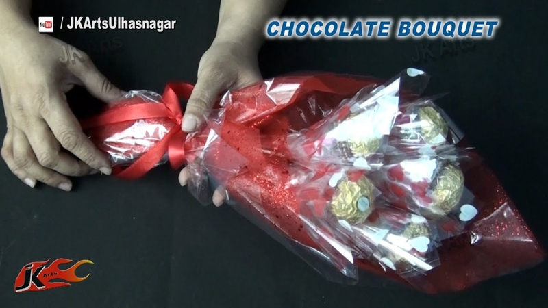 DIY Valentines Gift Idea | Ferrero Rocher Chocolate Bouquet | How to make | JK Arts 837