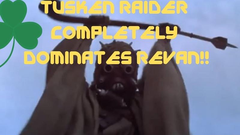 TUSKEN RAIDER CRUSHES REVAN! COMPLETE DOMINATION!!