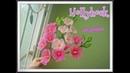 ฮอลลี่ฮ็อค (hollyhock) How to make nylon/stocking flower by ployandpoom