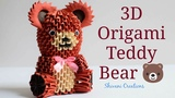 3D Origami Teddy Bear How to make Paper Teddy Bear Valentine's Day Gift Ideas