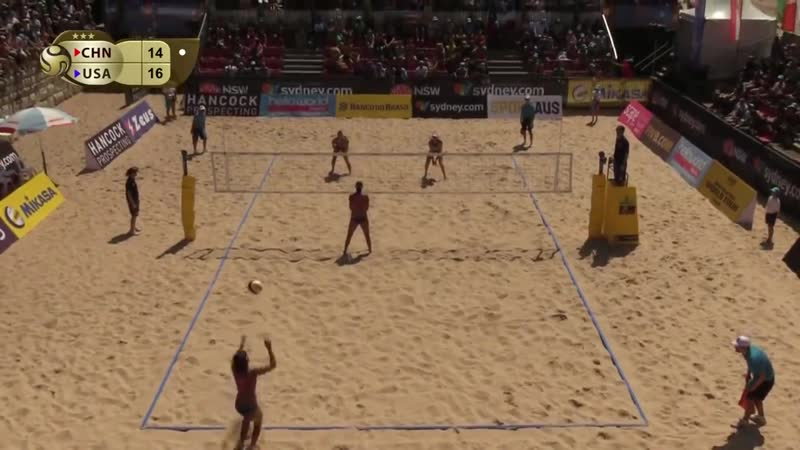 WangX.Y./Xia CHN vs Sweat/Jennings USA. Women`s bronze medal match