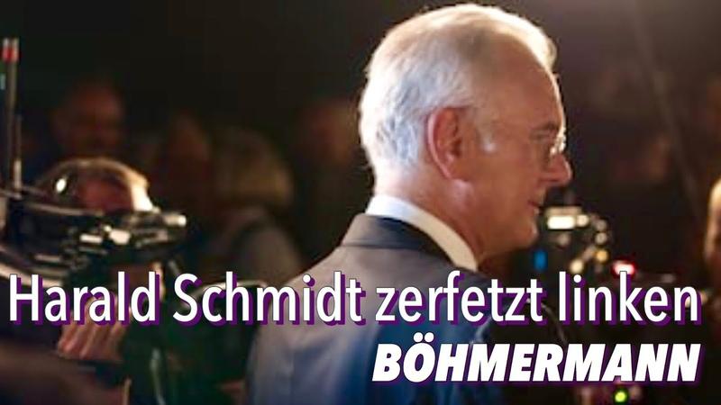 BRUTAL-SCHLAG Harald Schmidt erledigt linken Deep State Böhmermann!