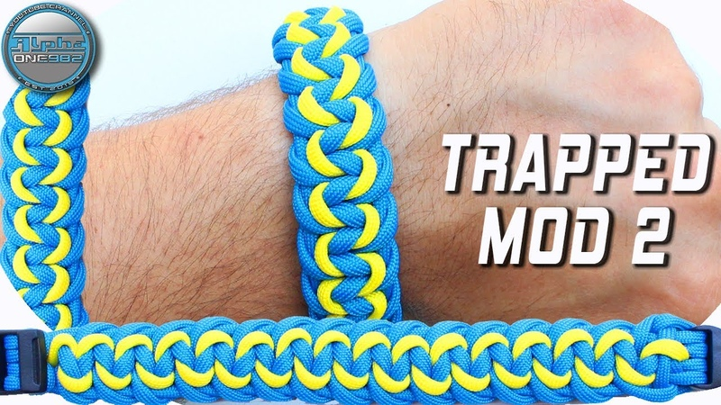 How to make Paracord Bracelet Trapped Modified 2 by CETUS 550 World of Paracord DIY