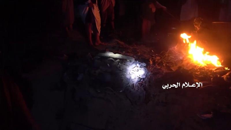 مشاهد لحظة إصابة طائرة الاستطلاع المقاتلة ام كيو 1 في أجواء ضواحي العاصمة - صنعاء