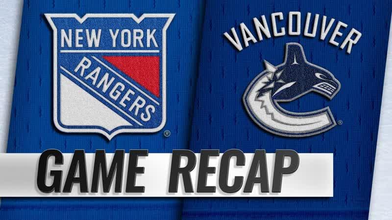 НХЛ - регулярный чемпионат. «Ванкувер Кэнакс» - «Нью-Йорк Рейнджерс» - 4:1 (0:0, 3:0, 1:1)