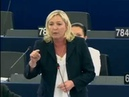 Parlement européen : Intervention de Marine Le Pen