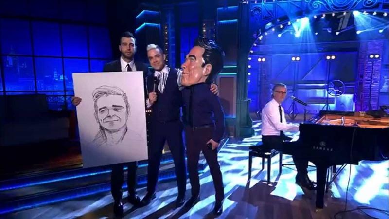 Вечерний Ургант. Робби Уильямс - Angels (10.04.2015) Robbie Williams