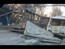 Жесть ДТП.Бетонная плита придавила автобус 18