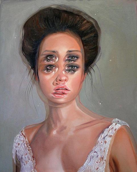 Психоделические портреты художницы Алекс Гарант Канадскую художницу по имени Алекс Гарант (Alex Garant) часто называют «Королевой двойных глаз». Этот псевдоним она получила благодаря своему