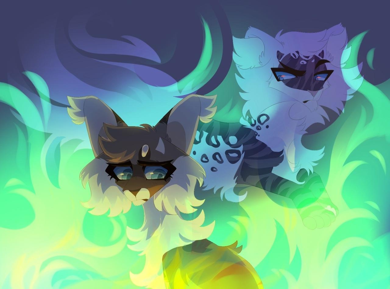 #Арт_КВ@cats___warriorsМотылинка и Коршун.by AkageTako (VK)