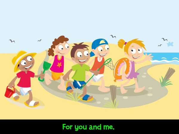 TMI Q7 KIDS Super Minds student's book 1 unit 9: At the beach (sing) cd3 38