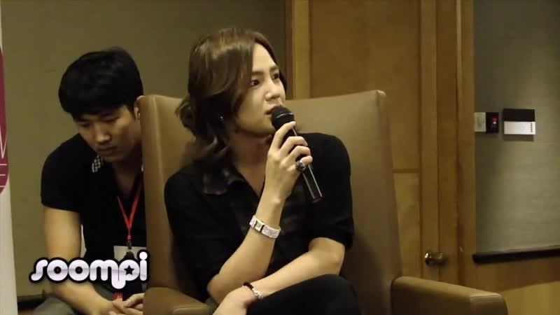 [2011.04.22] CRI Show Singapore - Jang Keun Suk Press Conference - His Dream