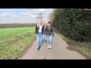 Lara pee walk in the jeans.mp4